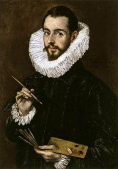 Portrait of the-Artist's son Jorge Manuel Theotokopoulos, 1603 El Greco