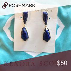 Kendra Scott Traci Earrings In Lapis Brand new, never worn. Kendra Scott Jewelry Earrings