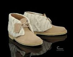 Clark's Desert Boots with Ardalanish yarn Cuffs