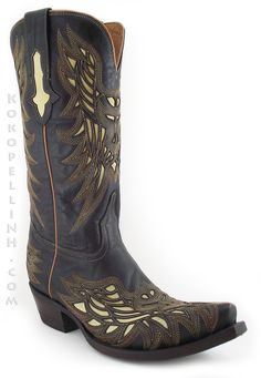 This unique cowboy boot was inspired by ancient Aztec designs. Lucchese 1883 (M3582)