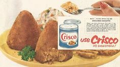 Crisco-Fried Tuna Croquettes.  Tuna Pyramids.  They do NOT look digestible.
