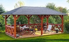 pavilion selber bauen Landscape Architecture Build the Pavilion yourself buil Outdoor Gazebos, Backyard Gazebo, Garden Gazebo, Backyard Patio Designs, Pergola Designs, Pergola Patio, Pergola Ideas, Backyard Pavilion, Outdoor Pavilion