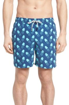 Colorful Pineapple Shorts Swim for Kid Quick Dry Side Split Adjustable Swim Mesh Lining Tropical