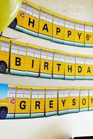 GreyGrey Designs: {My Parties} Greyson's Wheels on the Bus Birthday Party