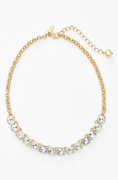 Glitzy Kate Spade crystal bib necklace.