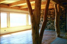 A nice straw bail home interior
