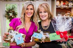 Cristina Ferrare with Christine Avanti's Low Fat Chocolate Chip Christmas Cookies, with DIY recipe cards and wrapping. Check out my budget friendly holiday gifts today (December 19th) on Hallmark Channel's Home & Family Show with Cristina Ferrare @Cristinacooks & @Linda Bruinenberg Bechard at 9AM PST/ 10AM Central xoxo CA