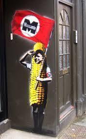 Attention: #Corn by #Mosanto, #graffiti
