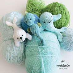 My sea amigurumi crochet pattern by Madelenon