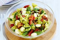 Caprese-style pasta salad  - i like alot of the ingredients...but will change some to suit my taste!!