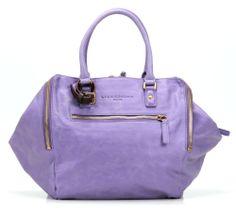 wardow.com - Tasche von Liebeskind, Metallic Suede Kayla Shopper Leder lila 32 cm