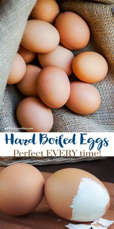 Need to know how to make Hard Boiled eggs? My recipe for Hard Boiled Eggs makes them Perfect Every Time. Great for egg salad, deviled eggs & more! via @KleinworthCo