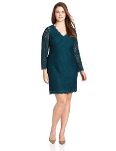 Adrianna Papell Women's Plus-Size Long Sleeve V-Neck Lace Dress, Hunter, 16W Adrianna Papell,http://www.amazon.com/dp/B00DRAYR8Q/ref=cm_sw_r_pi_dp_M6qSsb0CP7Y73TA2