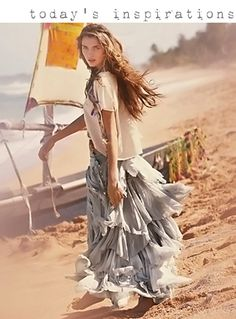 dreamy layered maxi skirt by free people