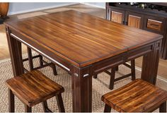 Adelson Chocolate Square Counter Height Dining Table.449.99. 54L x 36W x 36H extends to 54 with 18 leaf. Find affordable Dining Tables for your home that will complement the rest of your furniture. #iSofa #roomstogo