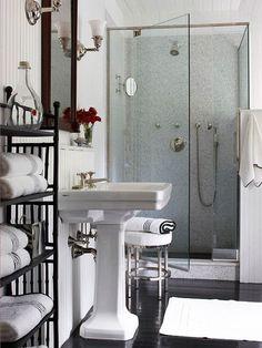 Contemporary Bathroom With Shower Room.