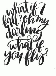 Silhouette Design Store - View Design #86157: what if i fall what if you fly