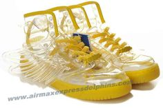 Adidas X Jeremy Scott Wings Clear Shoes Yellow 2013