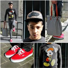 look vans authentic - mickey