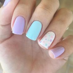 22 Ridiculously Sweet Spring Nail Ideas Worth This Season . - 22 Ridiculously Cute Spring Nail Ideas Worth Trying This Season – Project Inspired – 22 Ridicul - Cute Summer Nail Designs, Cute Spring Nails, Spring Nail Art, Easter Nail Designs, Cute Nail Art Designs, American Nails, Easter Nails, Valentine Nails, Manicure E Pedicure
