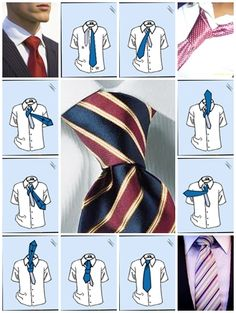 How to tie a tie half windsor knot step by step DIY instructions ♥ How to, how to make, step by step, picture tutorials, diy instructions, craft, do it yourself ❤
