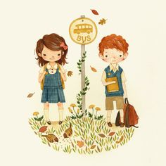 It looks like Margaret and Mitch. //{ teaganwhite } design  illustration