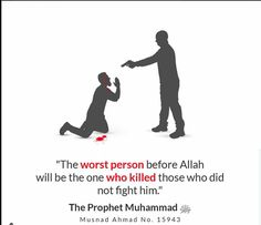 You can't kill innocent people in Islam and get away with it in front of God. There is no religion, system or way of life that gives such importance, value and guidelines for the sanctity of life, as is laid out in Islam, this is all from the Mercy, Justice, and love of Allah. #Islam