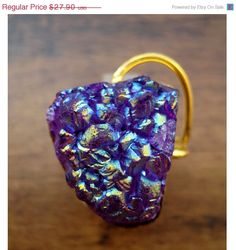 Hey, I found this really awesome Etsy listing at https://www.etsy.com/listing/177262693/valentine-day-sale-20-purple-druzy-ring