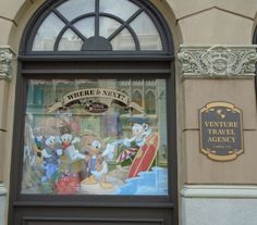 A peek into the Past with the Disney Vacation Club window in Disney's Hollywood Studios Streets of America