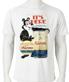 e8f9bb5b Hamm's Beer Dri Fit graphic Tshirt moisture wicking retro SPF active wear  tee - Athletic Apparel