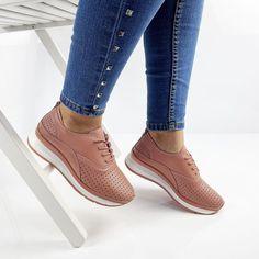 Pantofi piele naturala Demetra Pink Romania, Sneakers, Shoes, Design, Fashion, Interiors, Tennis, Moda, Slippers