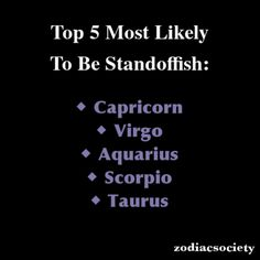 Zodiac Signs: Top 5 Most Likely To Be Standoffish