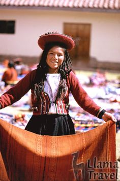 Girl at Chincheros Market, Peru