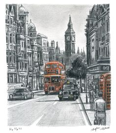 Whitehall in summer - drawings and paintings by Stephen Wiltshire MBE  Totally…