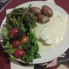 Poissons sauce hollandaise haricot verts pdt vapeurs