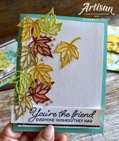 Stampin' Up! handmade greeting cards, home and party decor, scrapbooking, digital photo editing and designing, and gifts. Leaf Cards, Fall Gifts, Friendship Cards, Thanksgiving Cards, Fall Cards, Card Sketches, Creative Cards, Flower Cards, Greeting Cards Handmade