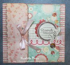 tutorial per questo delicato e dolce minialbum di Nicoletta Porcu. Da fare!