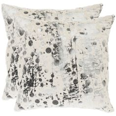 Safavieh Cosmos 18-inch White Decorative Pillows (Set of 2) | Overstock.com Shopping - The Best Deals on Throw Pillows- ice age