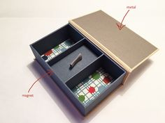 magnets in book and box making by Sarah Bryant