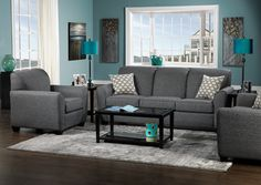 Grey And Teal Living Room charcoal gray sectional sofa - foter | for the apartment