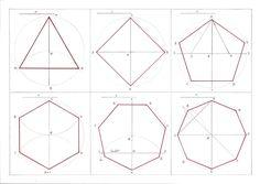 Un polígono regular es una figura plana limitada por lados(segmentos rectilíneos). En ellos todos los lados tienen la misma longitud y todo... Geometry Art, Wooden Plates, Drawing Skills, Flower Of Life, Pictures To Draw, String Art, Islamic Art, Paper Piecing, School Design