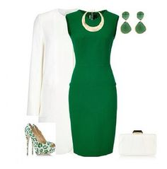 Love this shade of green (and cute shoes!)