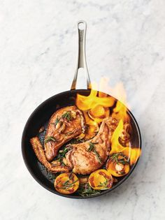 An easy Jamie Oliver pork recipe. Sage, pan-fried pork chops, peaches and bourbo… An easy Jamie Oliver pork recipe. Sage, pan-fried pork chops, peaches and bourbon make this a seriously impressive weeknight winner from Jamie Oliver! Jamie Oliver Pork Chops, Jamie Oliver Quick, Jaime Oliver, Gourmet Recipes, Cooking Recipes, Healthy Recipes, Quick Recipes, Healthy Food, Healthy Eating