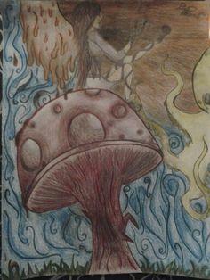 #hallucination #shroom #fairy #colorful #drawing #art