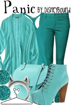 okay, I'm not much of a fashion pinner, but I LOVE those boots!!!!!   Panic by Disney Bound Hercules Fashion Disney outfit