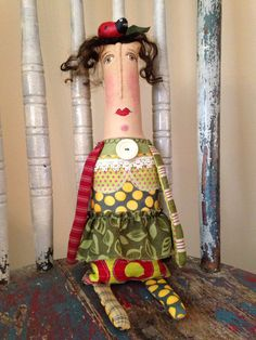Your place to buy and sell all things handmade Primitive Doll Patterns, Primitive Folk Art, Primitive Crafts, Primitive Snowmen, Prim Christmas, Country Christmas, Christmas Trees, Christmas Decor, Xmas