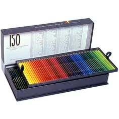 Holbein Artist Colored Pencil 150 Colors Op945 ($305) ❤ liked on Polyvore featuring home and home decor