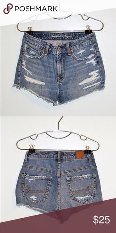 American Eagle Outfitters denim shorts Made in China, 100% cotton, size 2 worn a few times but is still in great condition ! American Eagle Outfitters Shorts Jean Shorts