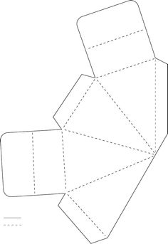 1000 images about craft instructions on pinterest paper for Triangle packaging template