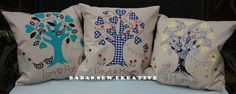 Selection of my family tree cushions. Available from https://www.facebook.com/Babas.Sew.Creative